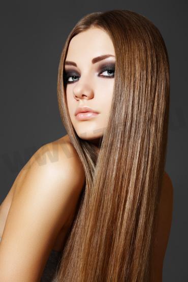 Уход за гладкими прямыми волосами
