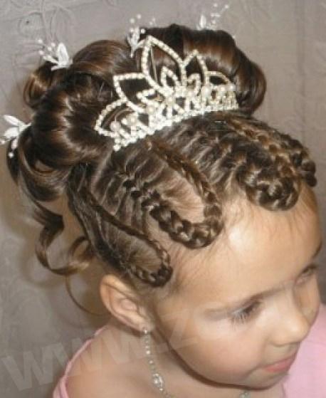 Прически из кос для волос детские